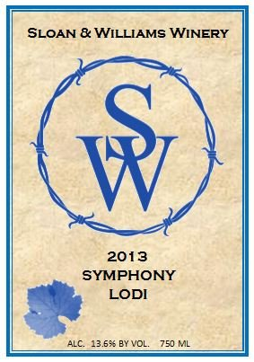 2013 Sloan & Williams Symphony White Blend 750 Ml