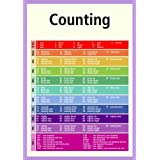 A3 homemade* early learning poster - Counting 1-100+ (supplied folded to A4, NOT laminated) ideal for classrooms, childminders, schools and nurseriesby 123 Web Art