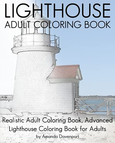 Lighthouse Adult Coloring Book: Realistic Adult Coloring Book, Advanced Lighthouse Coloring Book for Adults (Advanced Style Coloring Book compare prices)