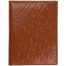 RFID Blocking Leather Passport Holder with 9 Credit Card Slots (Cognac)