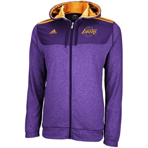 Nba Adidas Los Angeles Lakers On Court Pregame Full Zip Hoodie Purple Large Reevesxzcfzdfewdhnxss