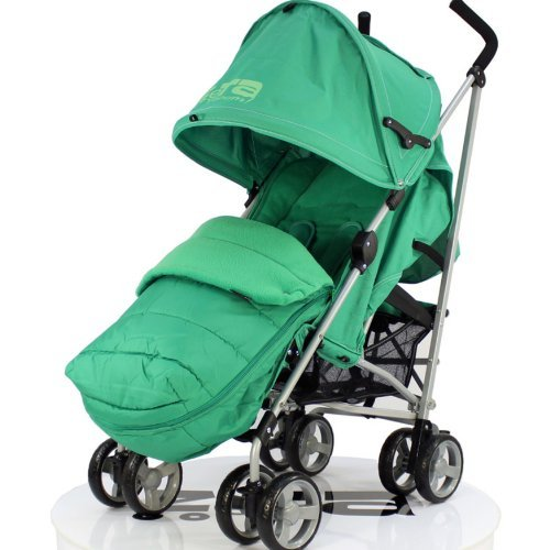 ZETA VOOOM - LEAF Complete With Raincover + Deluxe 2in1 footmuff liner zip off padded leaf