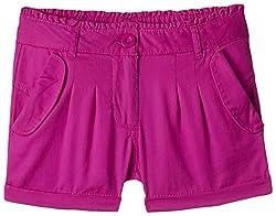 Nauti Nati Girls' Shorts (NSS15-455_Pink_6 - 7 years)