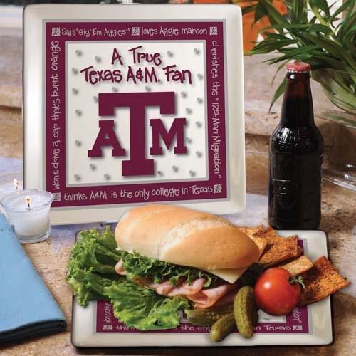 Ncaa Texas A&M Aggies True Fan Ceramic Square Plate