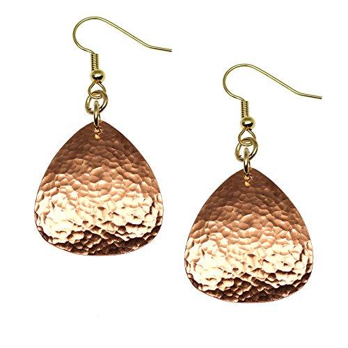 Hammered Copper Triangular Drop Earrings By John S Brana Handmade Jewelry Durable Copper Earrings