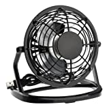 Pixnor Ultra-quiet USB Powered Plastic Mini Electric Cooling Fan for PC /Laptop /Notebook (Black)