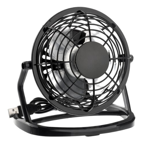 Foxnovo Ultra-Quiet Usb Powered Plastic Mini Electric Cooling Fan For Pc /Laptop /Notebook (Black)