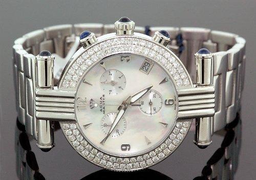 AQUA MASTER 0112MUU985Z - Reloj para hombres, correa de metal color blanco