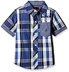 Nautica Kids Boys' Shirt (34B03W416_Navy_05HS)