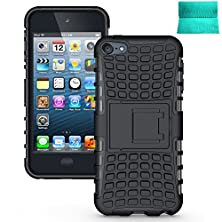 buy Ipod Touch 5 Case,Moment Dextrad [Perfect Fit] [Stand Feature] Hybrid Full-Body Rugged Dual Layer Protective Defender For Ipod Touch 5 6Th Generation (Black)