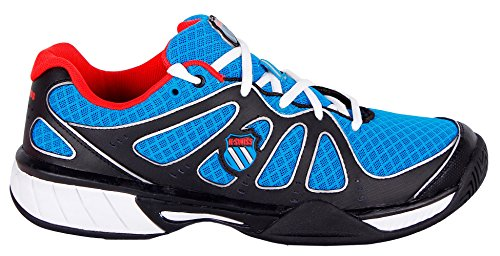 K-SWISS EXPRESS 100 MESH BLK/BRLNT BLUE/FIERY RED (9 UK, Negro/Azul/Rojo)
