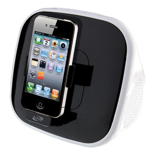 Ilive Isp191B App-Enhanced Speaker With Rotating Dock For Iphone/Ipod