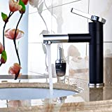 Fapully Touch On Bathroom Sink Faucet with Rotating Spout,Single Handle Vessel Sink Faucet ,Black Chrome