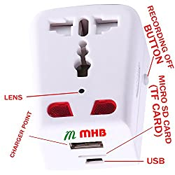 M MHB Now HD Mobile Charger Hidden camera Motion Detection with Long Hours Recording.Original brand Sold by Only M MHB .While recording no light Flashes. (c)