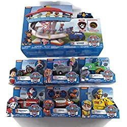 Paw Patrol Full Playset - all Base Characters and Vehicle