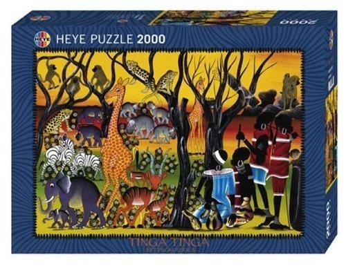 Puzzle 2000 Teile Tinga Tinga Residents Standardpuzzle