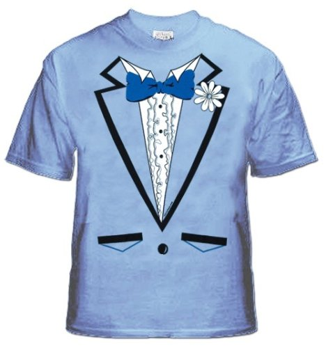 Men 39 S Light Blue Tuxedo T Shirt With Ruffles 2 Import