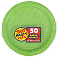 Amscan Kiwi Big Party Pack Dinner Plates (50)