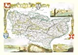 1830 Map of KENT - County Map - Thomas Moule - Reproduction (42 x 30 cm)