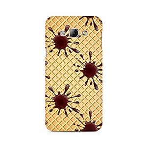 High Quality Printed Cover Case for Samsung A3 Model - Wafer Chocolate Splash