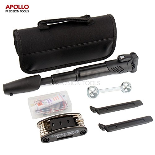 apollo-28-piece-bike-tool-kit-including-pump-tire-repair-kit-tire-levers-compact-15-in-1-multi-funct