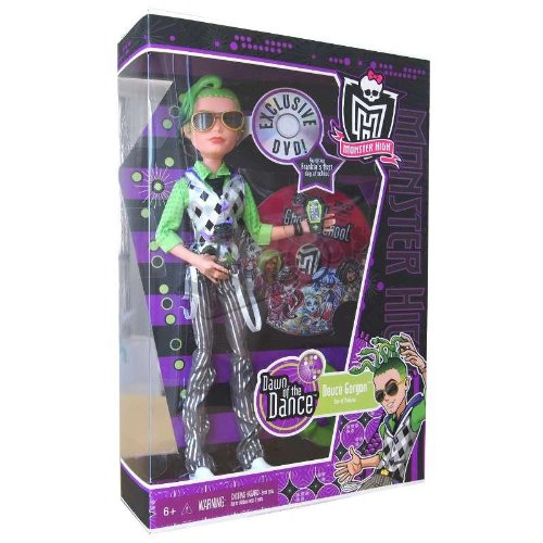 Monster High Dawn of the Dance Deuce Gorgon Doll in Exclusive Purple Box with Dvd