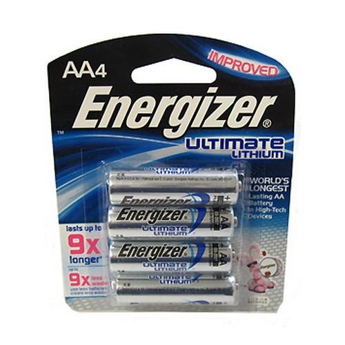 Energizer Ultimate Lithium AA Batteries 4 Ea(4 Pack) (Aa Lithium Batteries compare prices)