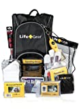 Life Gear LG492 Emergency Survival Kit Backpack w/Emergency Gear &amp; First Aid Kit