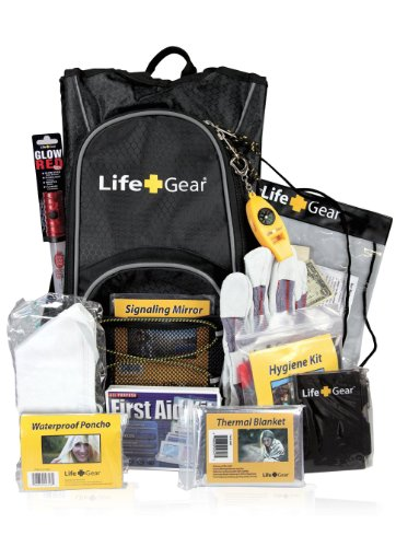 Life Gear LG492 Emergency Survival Kit Backpa...
