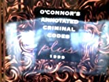img - for O'Connor's Annotated Criminal Codes Plus 1999 book / textbook / text book