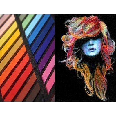 Buysmate - 12 gessetti colorati atossici per capelli, disponibili in confezioni da 12/24/32/36