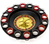 16 Shot Roulette Drinking Game with Two Metal Balls, Casino Accessory