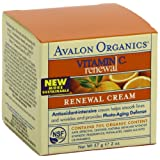 Avalon Organics Vitamin C Renewal Cream, 2 Ounce (Pack of 2) ~ Avalon Organics
