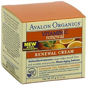 (直降)Avalon Organics Vitamin C Renewal 阿瓦隆有机维C美白淡斑活力面霜2瓶SS$26.84