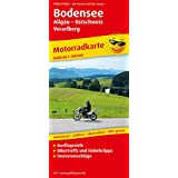 Motorradkarte Bodensee, Allgäu - Ostschweiz - Vorarlberg: Mit Ausflugszielen, Bikertreffs und Einkehrtipps sowie Tourenvorschlägen, wetterfest, reissfest, abwischbar, GPS-genau