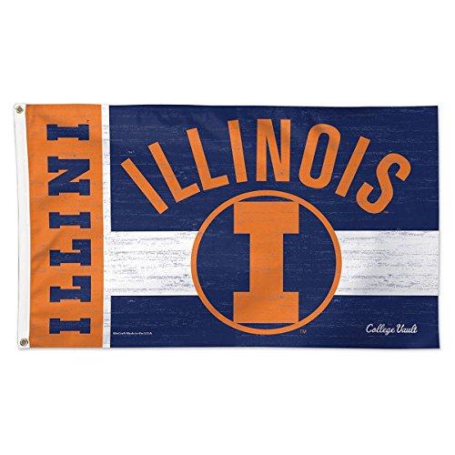 University of Illinois Throwback Vintage 3x5 College Flag
