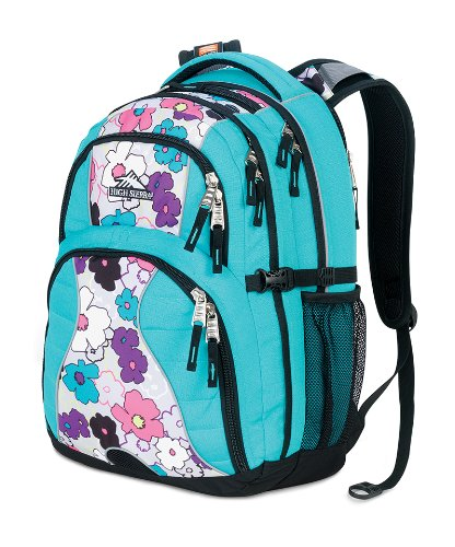 B0074CC582 High Sierra Swerve Backpack (19 x 13 x 7.75-Inch, Teal Flowers)