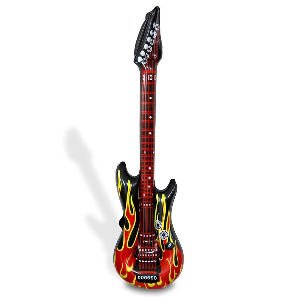 96 x Aufblasbare Gitarre Luftgitarre Airguitar Flammen