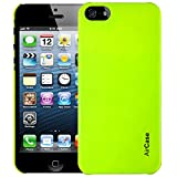Airplus Aircase Glossy Finish Back Case with Screen Protector for Apple iPhone 5/5S (Florescent Green)