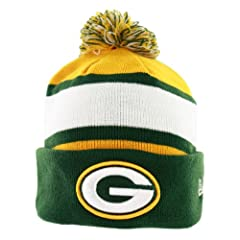 Buy Green Bay Packers Youth On-Field Sport Knit Hat with Pom by New Era
