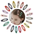 """Ruyaa 2"""" Snap Clips No Slip Wrapped Hair Barrettes for Toddlers Girls Kids Women Hair Accessories (20pcs Assorted)"""