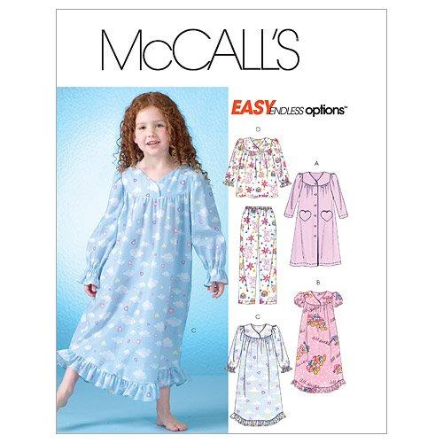 Mc Call's Schnittmuster 4646 CL Schlafanzug & Nachthemd Gr. 6-7-8 (122-134)