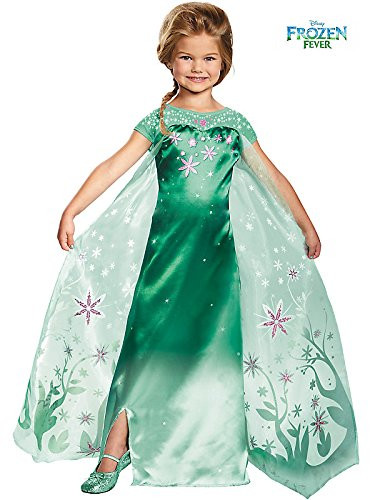 Elsa Frozen Fever Deluxe Costume For Toddlers