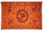 Orange Designer Om Print Wall D�cor H...