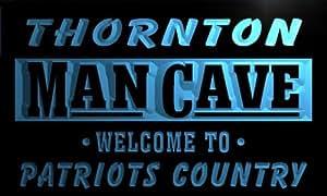 qf2263-b Thornton Man Cave Patriots Country Vintage Pub Bar Neon Beer Sign