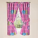 One Direction Window Panels Curtains Drapes, Set of 2 & Tie-backs