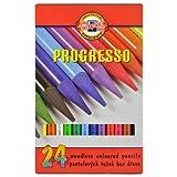 24 Künstlerstifte Vollminen Farbstifte Buntstifte Zeichenstifte Stifte PROGRESSO KOH-I-NOOR Set hergestellt von KOH-I-NOOR