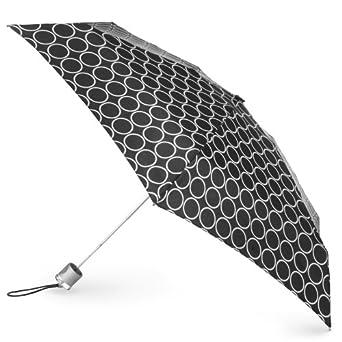 Totes Ladies Signature Micro Manual Compact Umbrella, Metro Dot, One Size