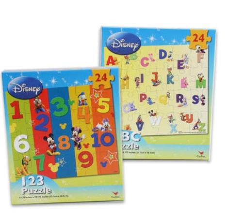 Disneys ABC & 123 Learning 24 PCS Puzzles - 2 Pack