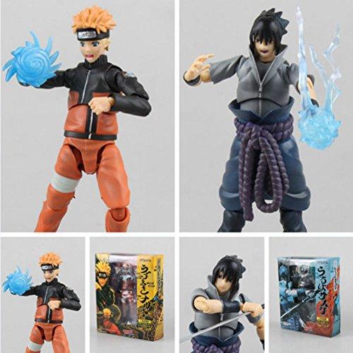 NEW 2016 15cm Naruto movable Uchiha Sasuke Uzumaki Naruto action figure toy